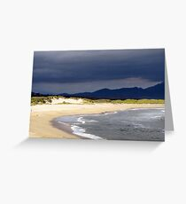 The moving sea Greeting Card
