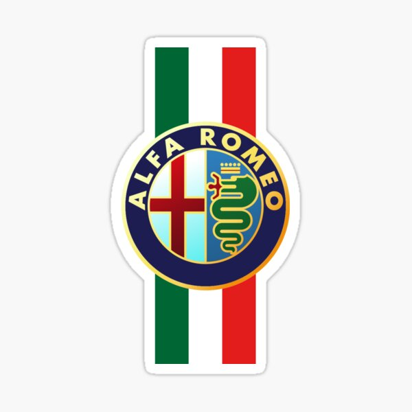 Alfa Romeo Italia más vendido Pegatina