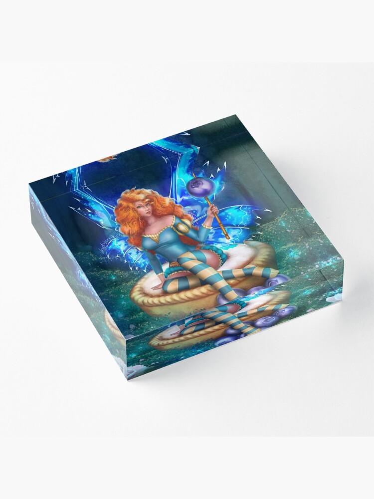 Alternate view of Blueberry Cake Fairy Acrylic Block