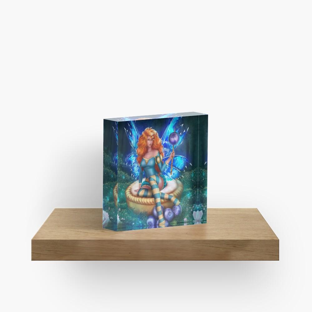 Blueberry Cake Fairy Acrylic Block