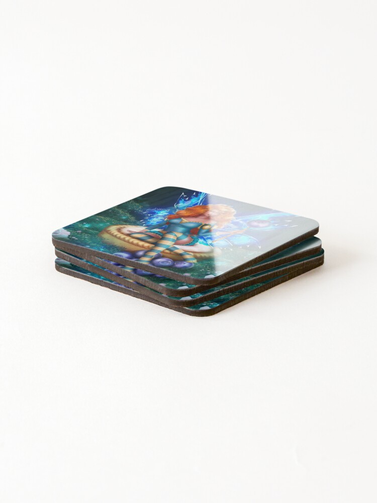 Alternate view of Blueberry Cake Fairy Coasters (Set of 4)