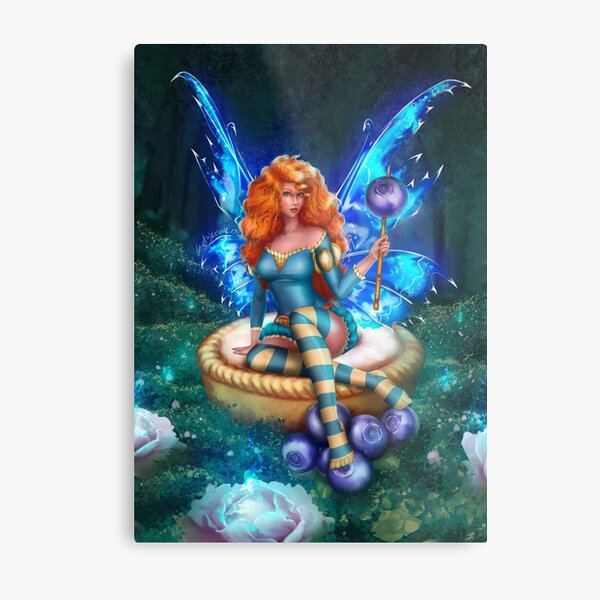 Blueberry Cake Fairy Metal Print