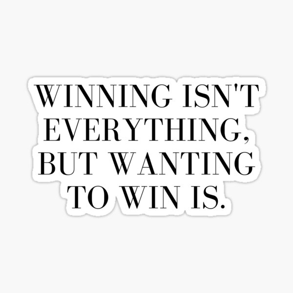 winners mentality quote Sticker