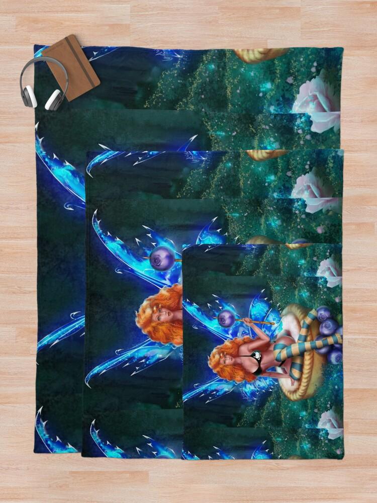 Alternate view of Blueberry Cake Fairy Bikini Throw Blanket