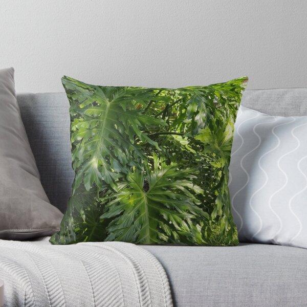 Elephant Ear Plant Photo Throw Pillow