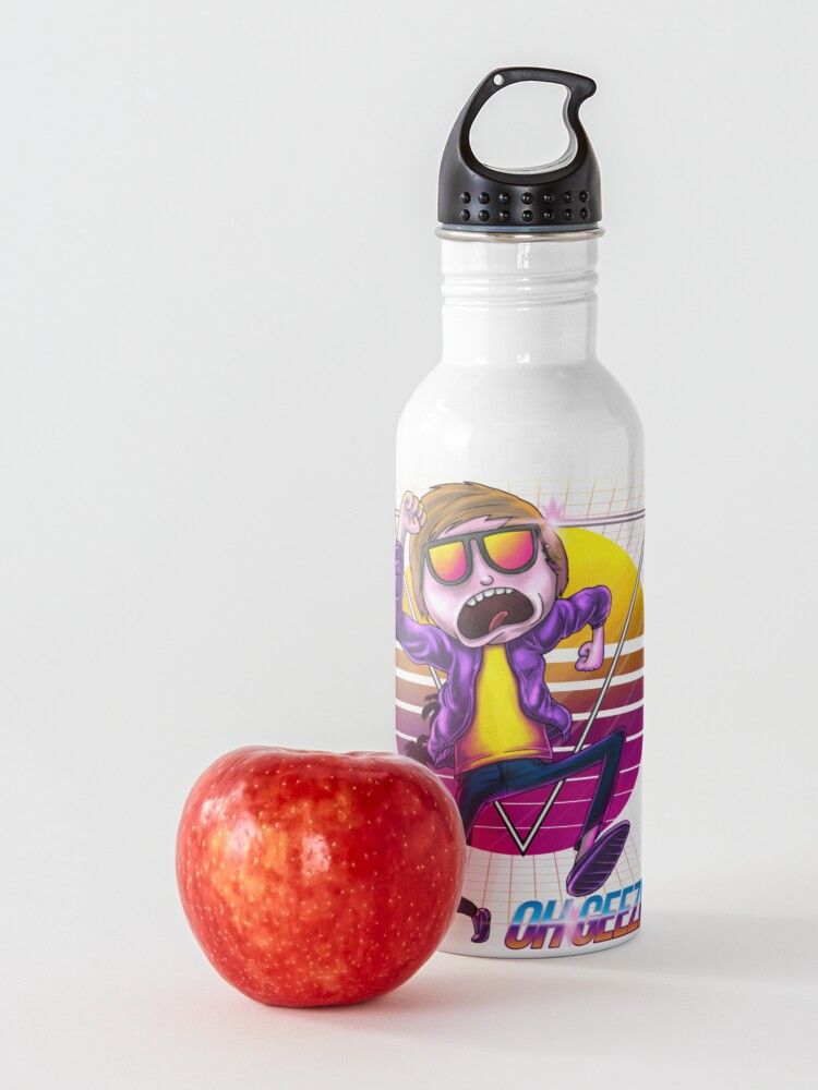 Alternate view of synthwave morty ohgeez! Water Bottle