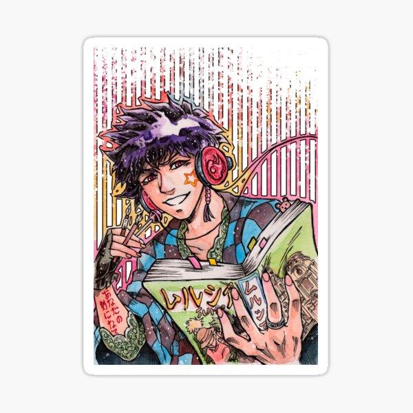 Living through manga Sticker