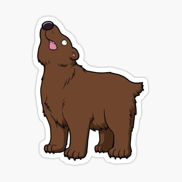 Classic Dumb Bear. Sticker