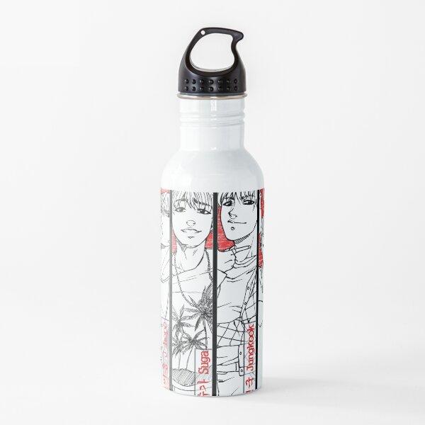 BTS - red, black & white Water Bottle
