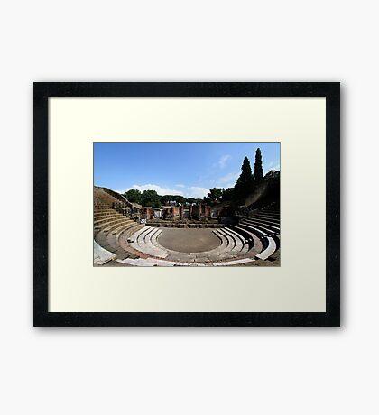Large Theatre - Pompeii Framed Print