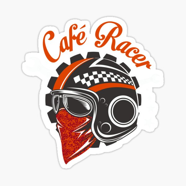 Cafe Racer Casque de moto Design Cafe Racer Classic Cafe Racer Sticker