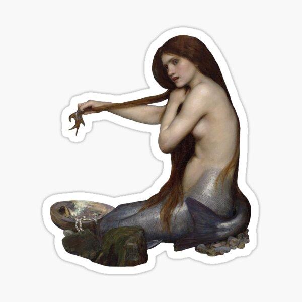 """Waterhouse's """"A Mermaid"""" Sticker"""