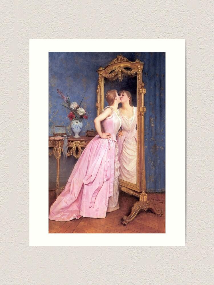 "Alternate view of Toulmouche's ""Vanity"" Art Print"