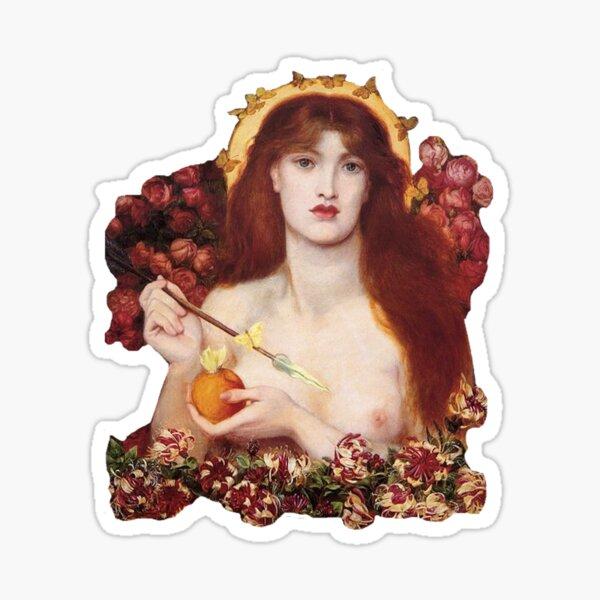 """Rossetti's """"Venus Verticordia"""" Sticker"""