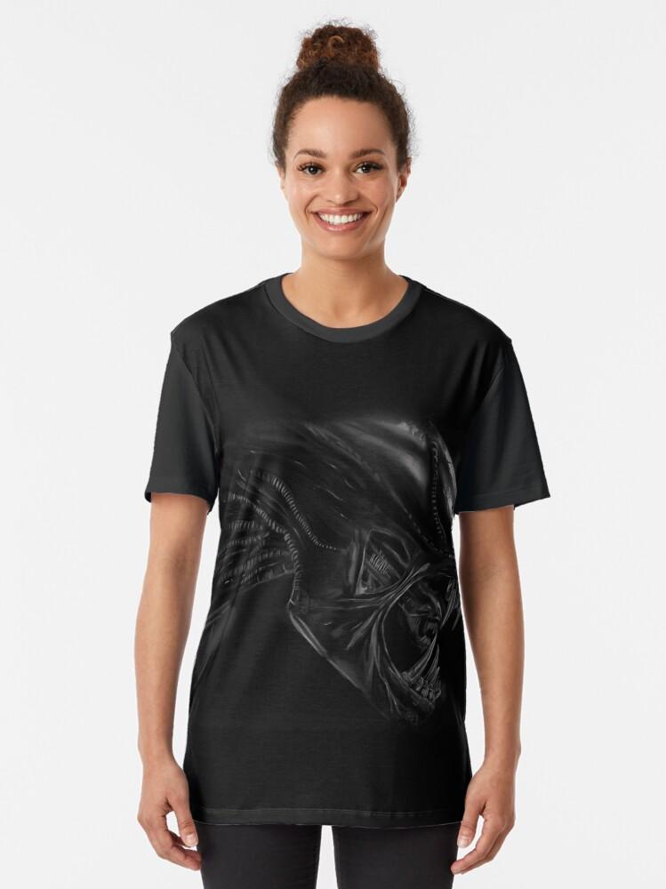 Alternate view of xenomorph Graphic T-Shirt