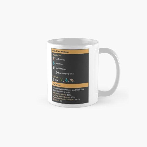 Cup of Coffee & Tea (Recipe) Classic Mug