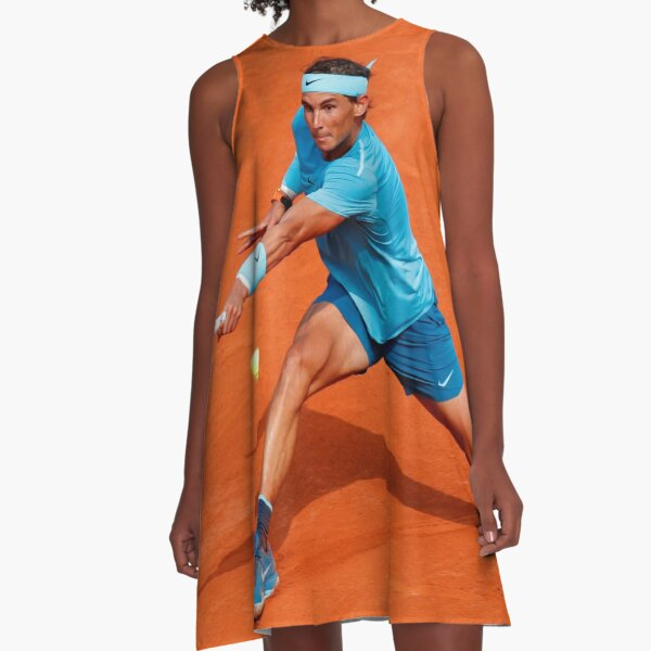 Rafael Nadal playing tennis A-Line Dress