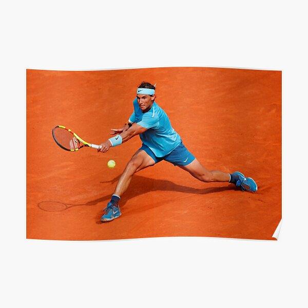 Rafael Nadal joue au tennis Poster