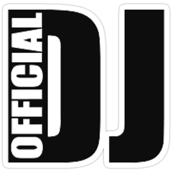 Official DJ Logo Sticker