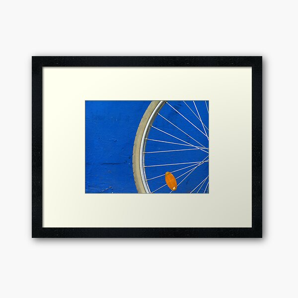 Bike Wheel Framed Art Print