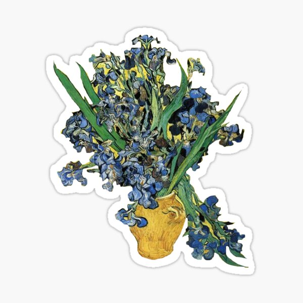 "Van Gogh's ""Still Life with Irises"" Sticker"