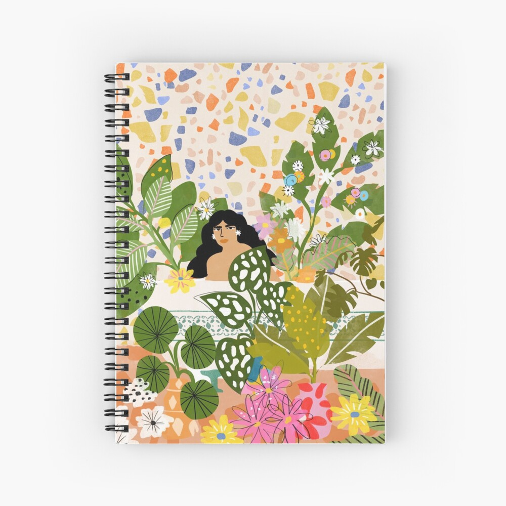 Bathing with Plants Spiral Notebook