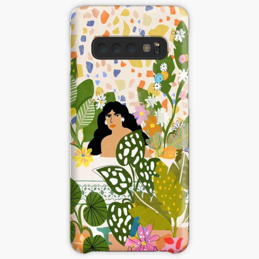 Bathing with Plants Case & Skin for Samsung Galaxy