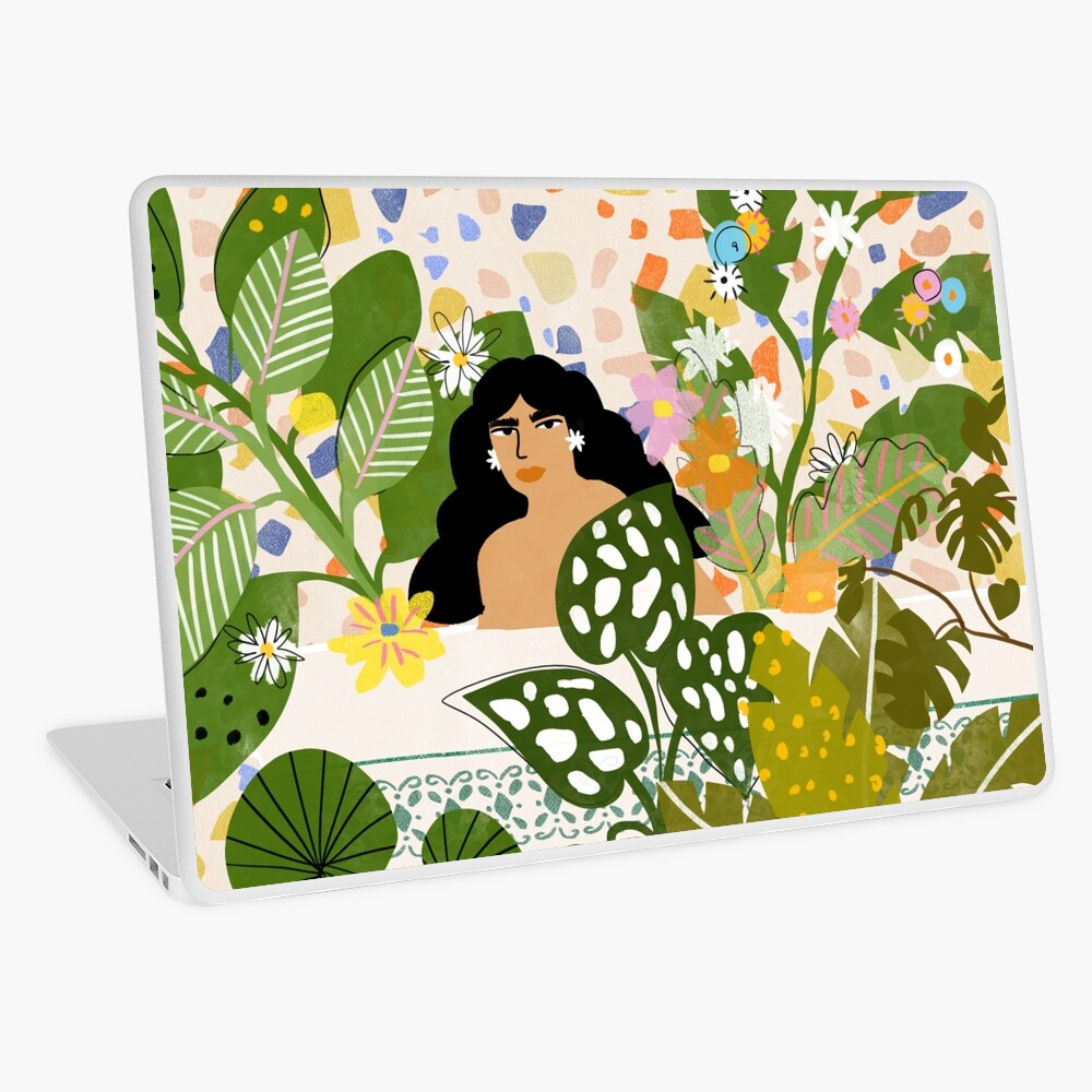 Bathing with Plants Laptop Skin