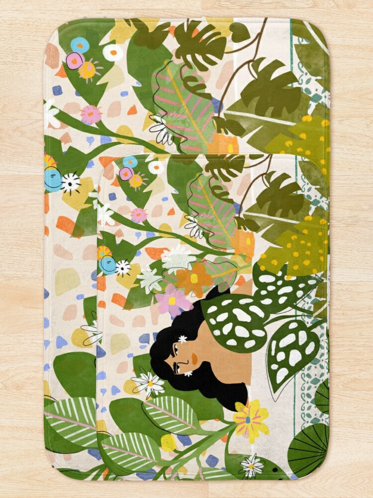 Alternate view of Bathing with Plants Bath Mat