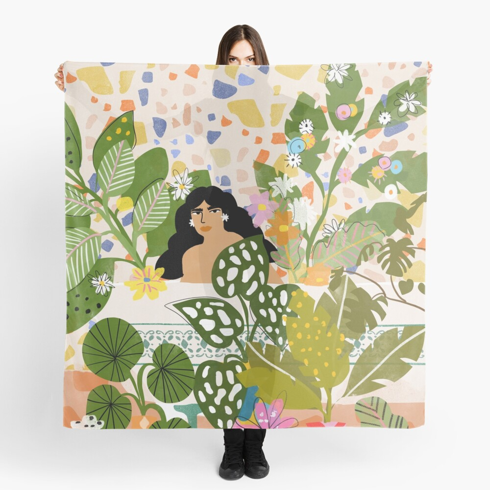 Bathing with Plants Scarf
