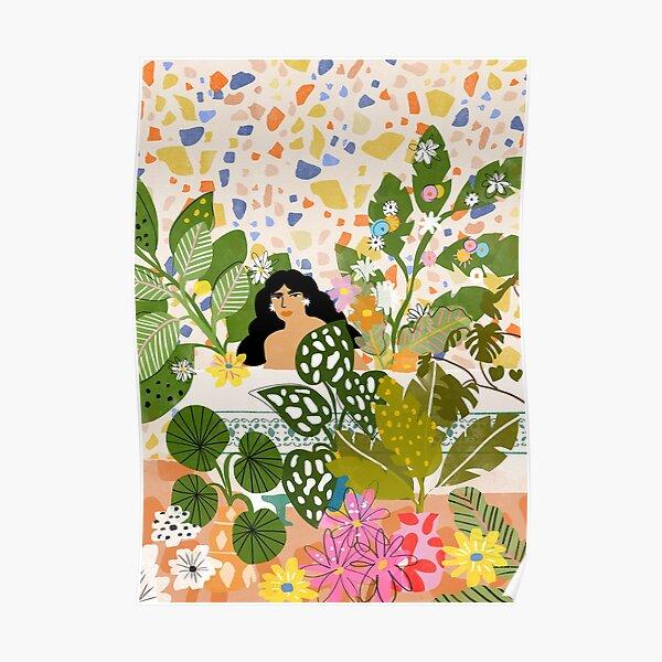 Baignade avec des plantes Poster