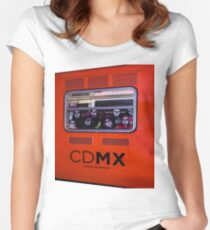 La Catrina Viaja en Metro CDMX 2151 Women's Fitted Scoop T-Shirt