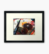 pine flower eggs Framed Print