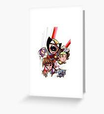 Superhero cute Greeting Card