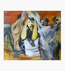 Water game - metamorphosis - original figurative painting by Nataly Photographic Print