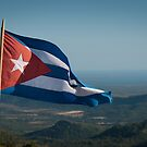 Cuban flag at lookout point by Stephen Colquitt