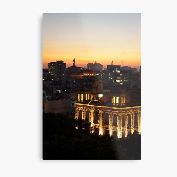 Lights over Havana Metal Print