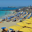 White sand Beach, Playa Blanca by Janone
