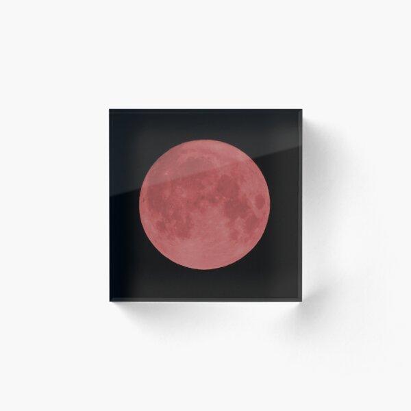 Blood Moon Acrylic Block