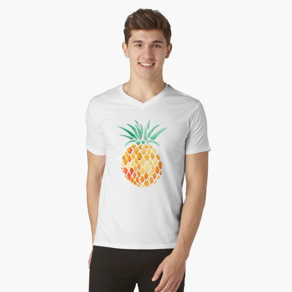 Ananas T-Shirt mit V-Ausschnitt