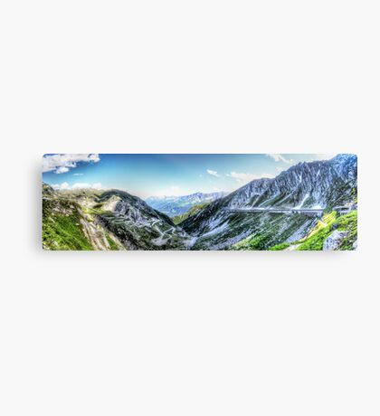 Gotthard Elbows Revisted - The HDR Panorama Metal Print