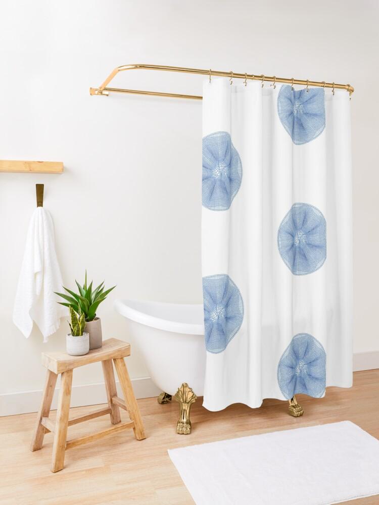 Alternate view of Star Burst Shower Curtain
