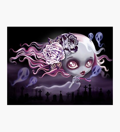 Ghostly Luna Photographic Print