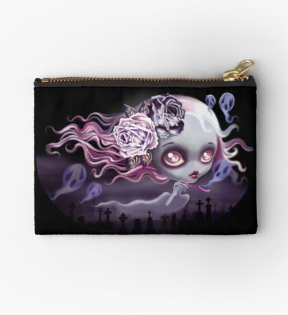 Ghostly Luna Zipper Pouch