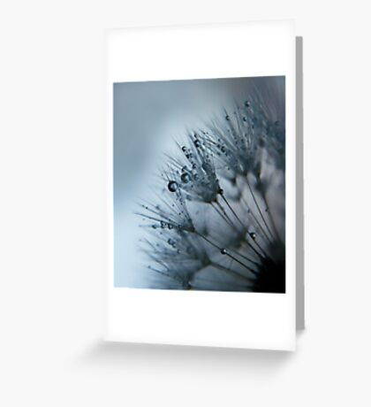 misty morning blues Greeting Card