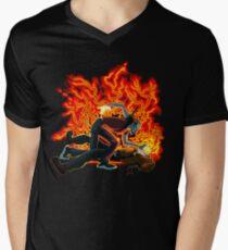 Face Sucking Plain Mens V-Neck T-Shirt