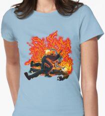 Face Sucking Plain Women's Fitted T-Shirt