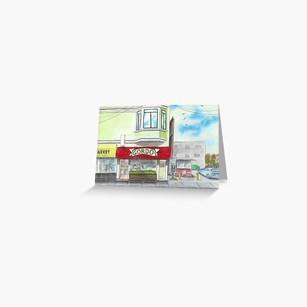 """Gordo Taqueria"" Greeting Card"