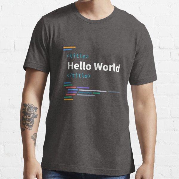 Developer Hello World Essential T-Shirt