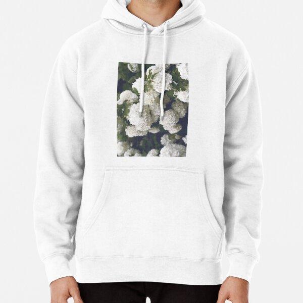 Beautiful White Hydrangeas Pullover Hoodie